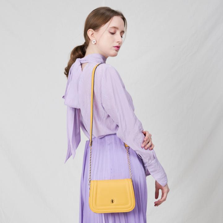 [백투베이직스]BAG TO BASICS - mori(soft yellow) 체인백 크로스백 숄더백 여성가방