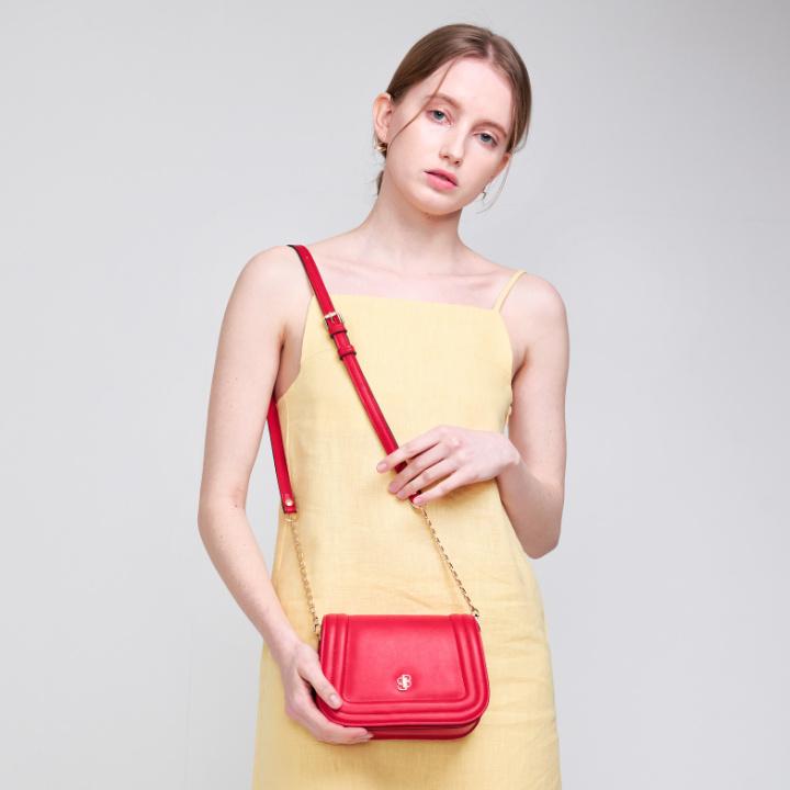 [백투베이직스]BAG TO BASICS - mori(coral red) 체인백 크로스백 숄더백 여성가방