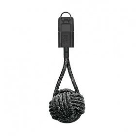 네이티브유니온 프리미엄 아이폰 충전 키홀더 케블라 케이블 블랙 USB A - 라이트닝_KEY-L-CS-BLK-NP