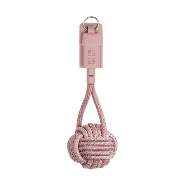 네이티브유니온 프리미엄 아이폰 충전 키홀더 케블라 케이블 로즈핑크 USB A - 라이트닝_KEY-L-ROS-NP
