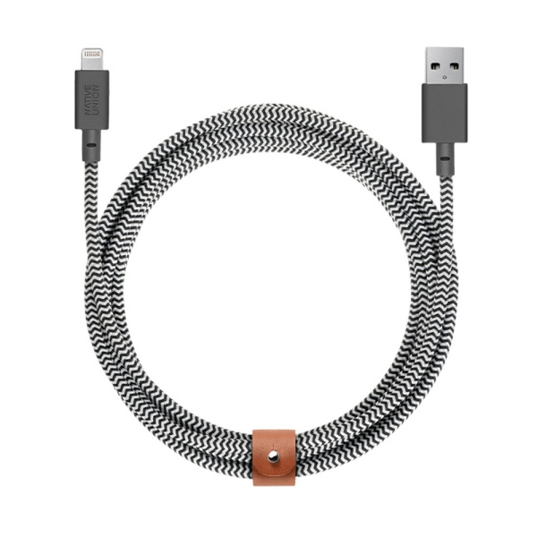 네이티브유니온 프리미엄 아이폰 충전 케블라 케이블 지브라 3M USB A - 라이트닝_BELT-L-ZEB-3-NP