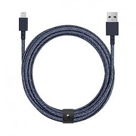네이티브유니온 프리미엄 아이폰 충전 케블라 케이블 인디고블루 3M USB A - 라이트닝_BELT-L-IND-3-NP