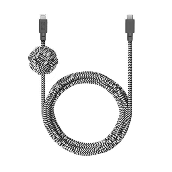 네이티브유니온 프리미엄 케블라 아이폰 고속충전 벨트 케이블 지브라 3M USB C - 라이트닝_NCABLE-KV-CL-ZEB