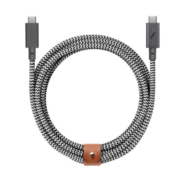 네이티브유니온 프리미엄 케블라 충전 벨트 케이블 지브라 2.4M USB C - C_BELT-C-ZEB-PRO-NP