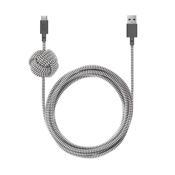 네이티브유니온 프리미엄 아이폰 충전 케블라 케이블 지브라 3M USB A - C_NCABLE-AC-ZEB-NP