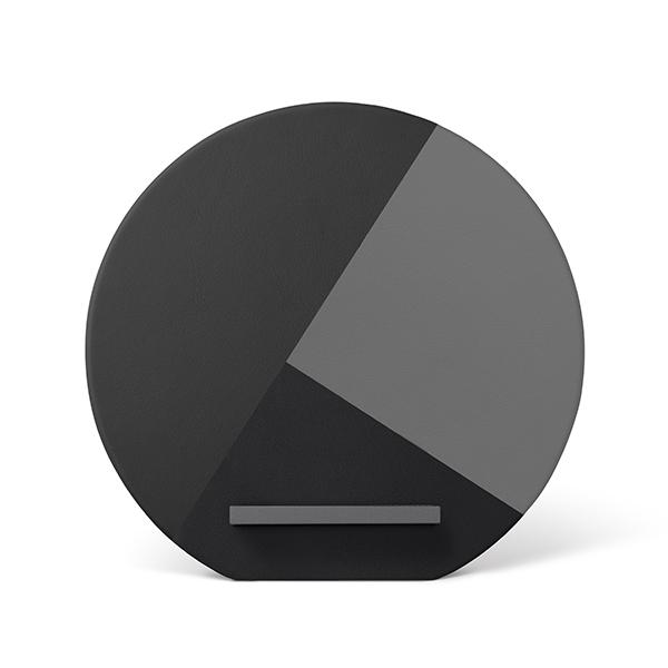네이티브유니온 프리미엄 나파가죽 무선충전 스탠드 그레이 iPhone 7.5w QI 10W 고속충전_DOCK-WL-MARQ-GRY