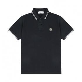 [스톤아일랜드] Stone Island - 20SS 패치 로고 투라인 PK티 카라티 티셔츠 (네이비) 101522S18 V0020