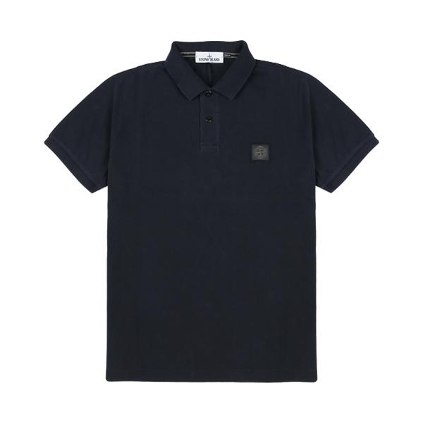 [스톤아일랜드] Stone Island - 20SS 피그먼트 이펙트 PK티 카라티 티셔츠 (네이비) 721522S67 V0020