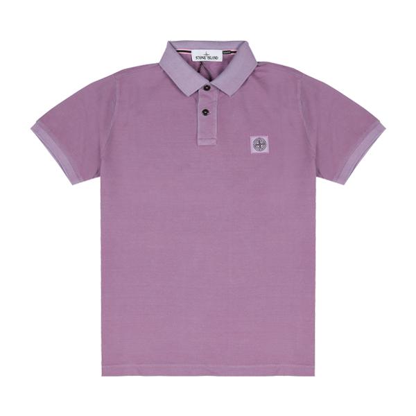 [스톤아일랜드] Stone Island - 20SS 피그먼트 이펙트 PK티 카라티 티셔츠 (바이올렛) 721522S67 V0086