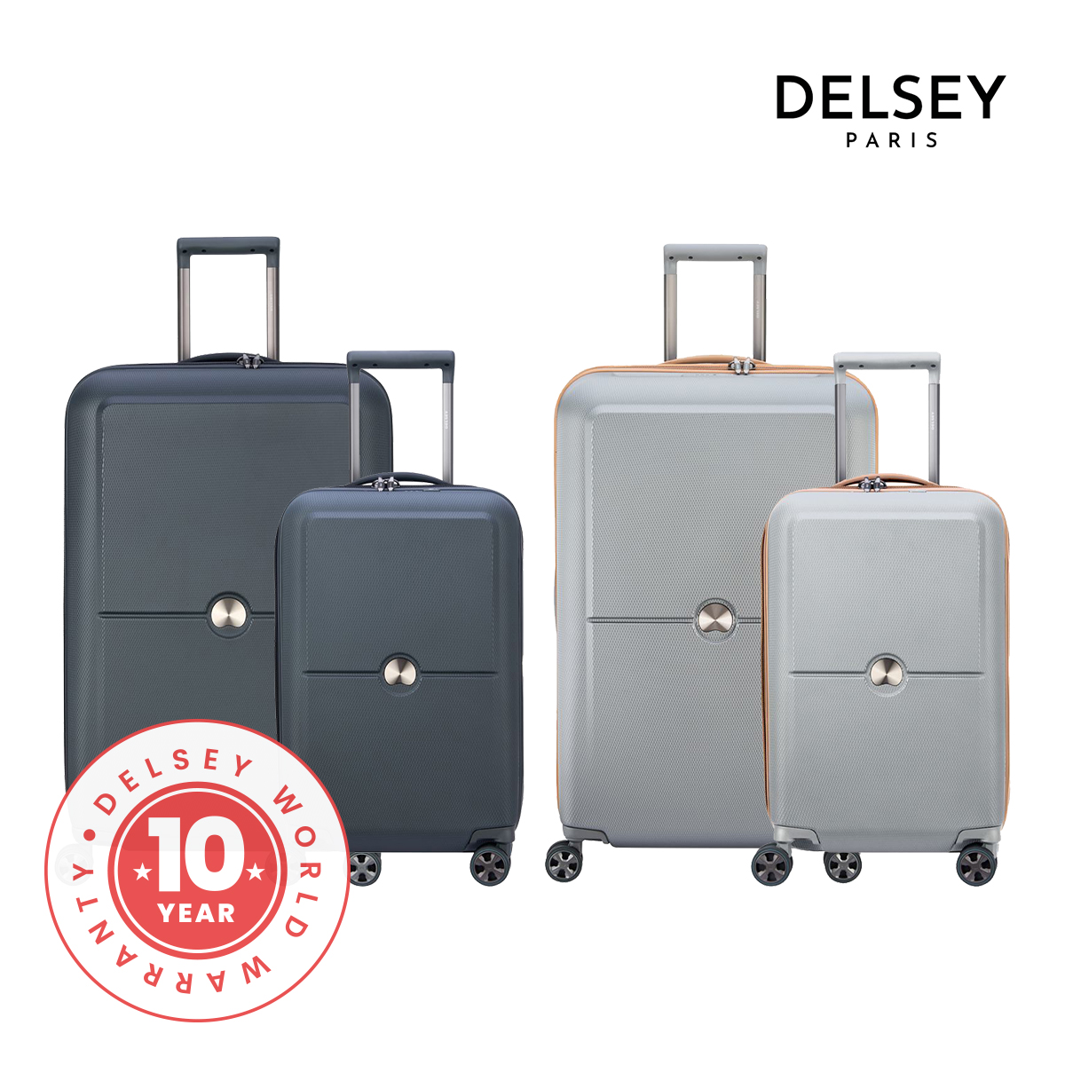 [델시]DELSEY - 투렌 프리미엄 55+75/20+27 2종세트 여행용캐리어 하드