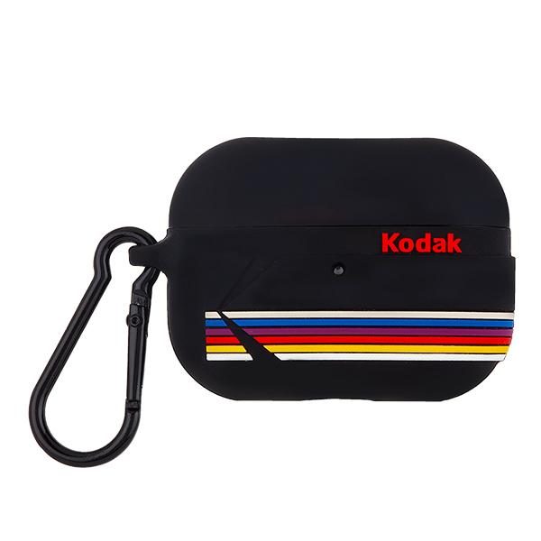 [케이스메이트]Case-Mate x Kodak - Matte Black with Kodak Stripes w/Black Carabiner Clip 에어팟 프로 케이스 CM04185