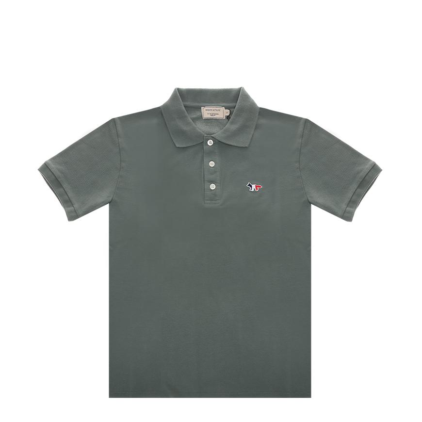 [메종키츠네]20SS EM00209KJ7002 BLGN 블루그린 남성 트리칼라 폭스 폴로 티셔츠