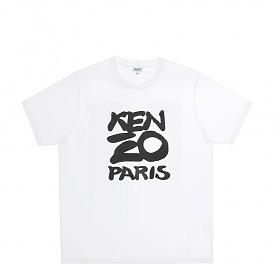 [겐조]20SS FA55TS0184SA 01 화이트 시즈널 로고 남성 반팔 티셔츠
