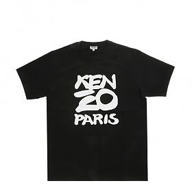 [겐조]20SS FA55TS0184SA 99 블랙 시즈널 로고 남성 반팔 티셔츠