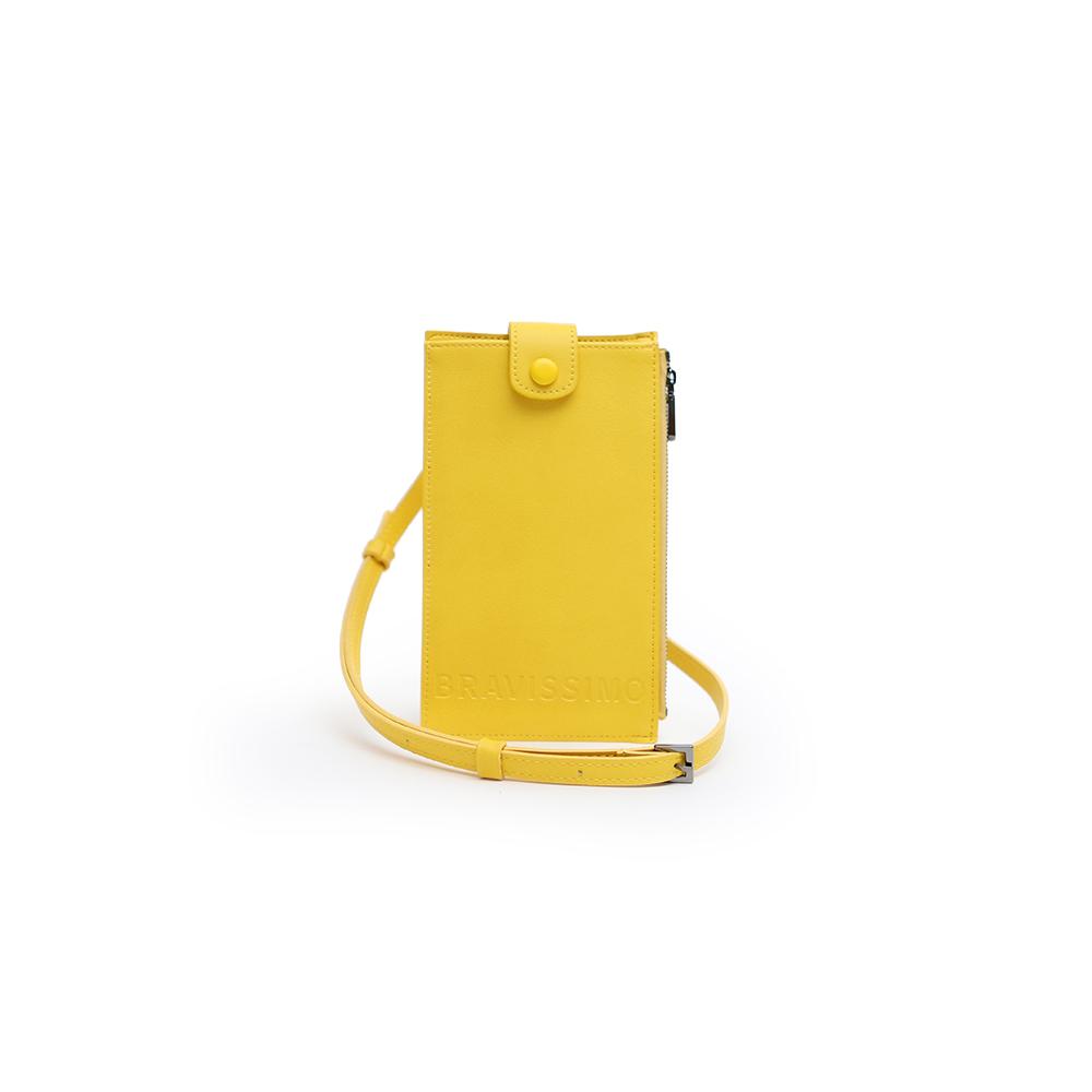 [브라비시모] 니쥬(Neezu) - 옐로우 미니크로스백 여성가방