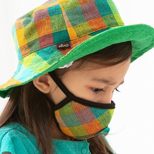 자연친화 헤파필터 어린이 면 마스크