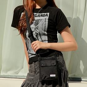 [로아드로아] TWO STRAP RIP MINI BAG (BLACK) 미니백 크로스백
