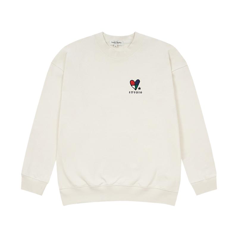 베테제 - Heart Mini Logo MTM (cream) 하트 미니 로고 맨투맨 (크림)
