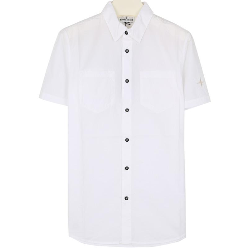 국내배송)스톤키즈 701610401 V0001 자수 반팔 셔츠