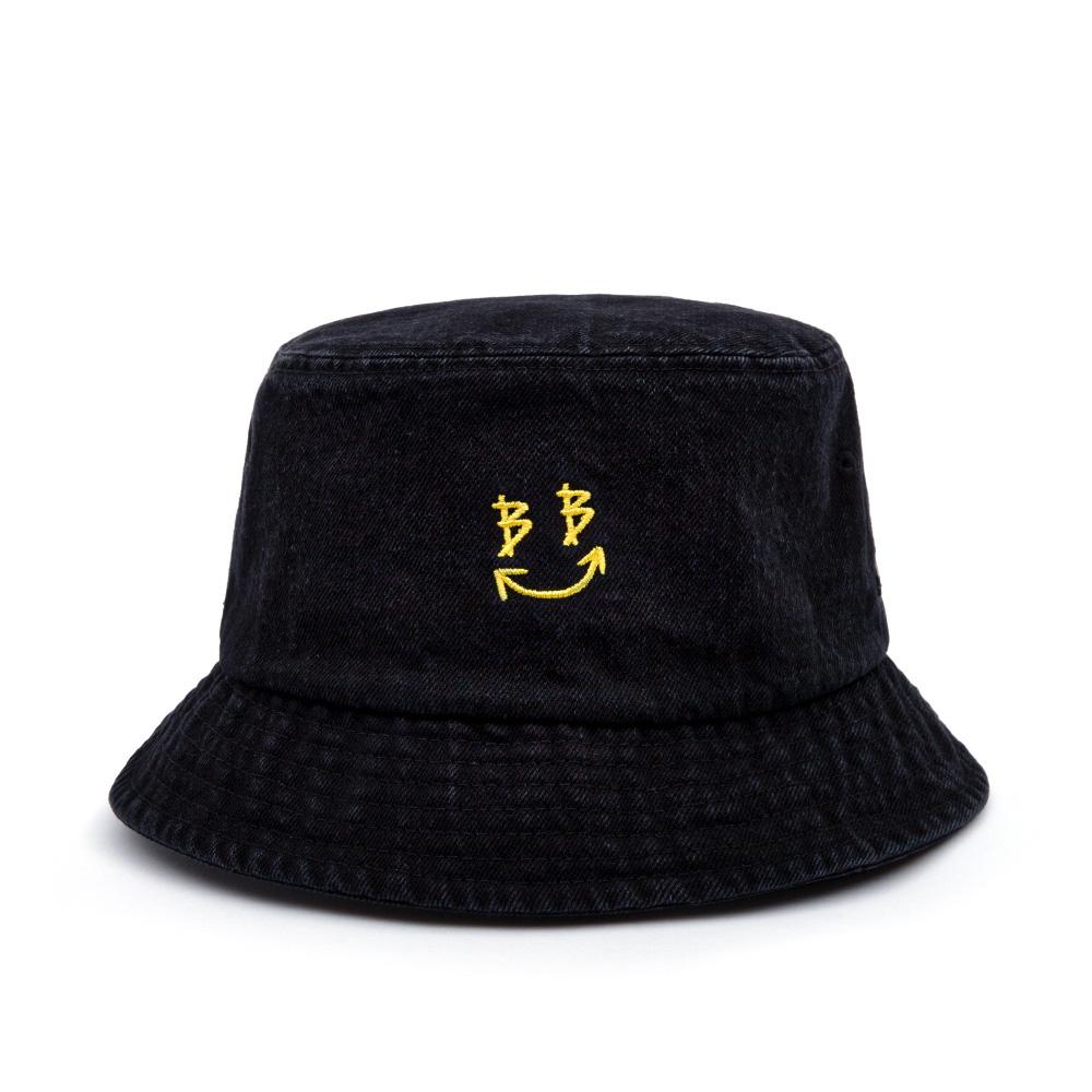 BBD Smile Logo Denim Bucket Hat (Black)