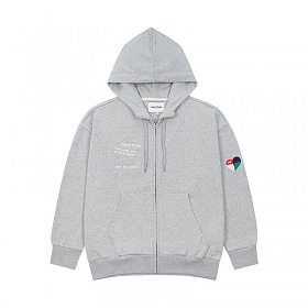 베테제 - Rainbow Hood Zipup (gray) 레인보우 후드 집업 (그레이)