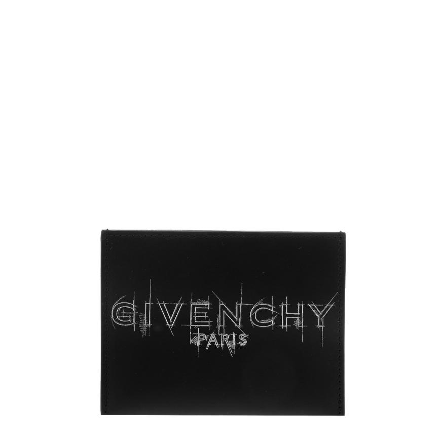[지방시]20FW BK6003K10S 004 블랙 로고 프린트 카드지갑