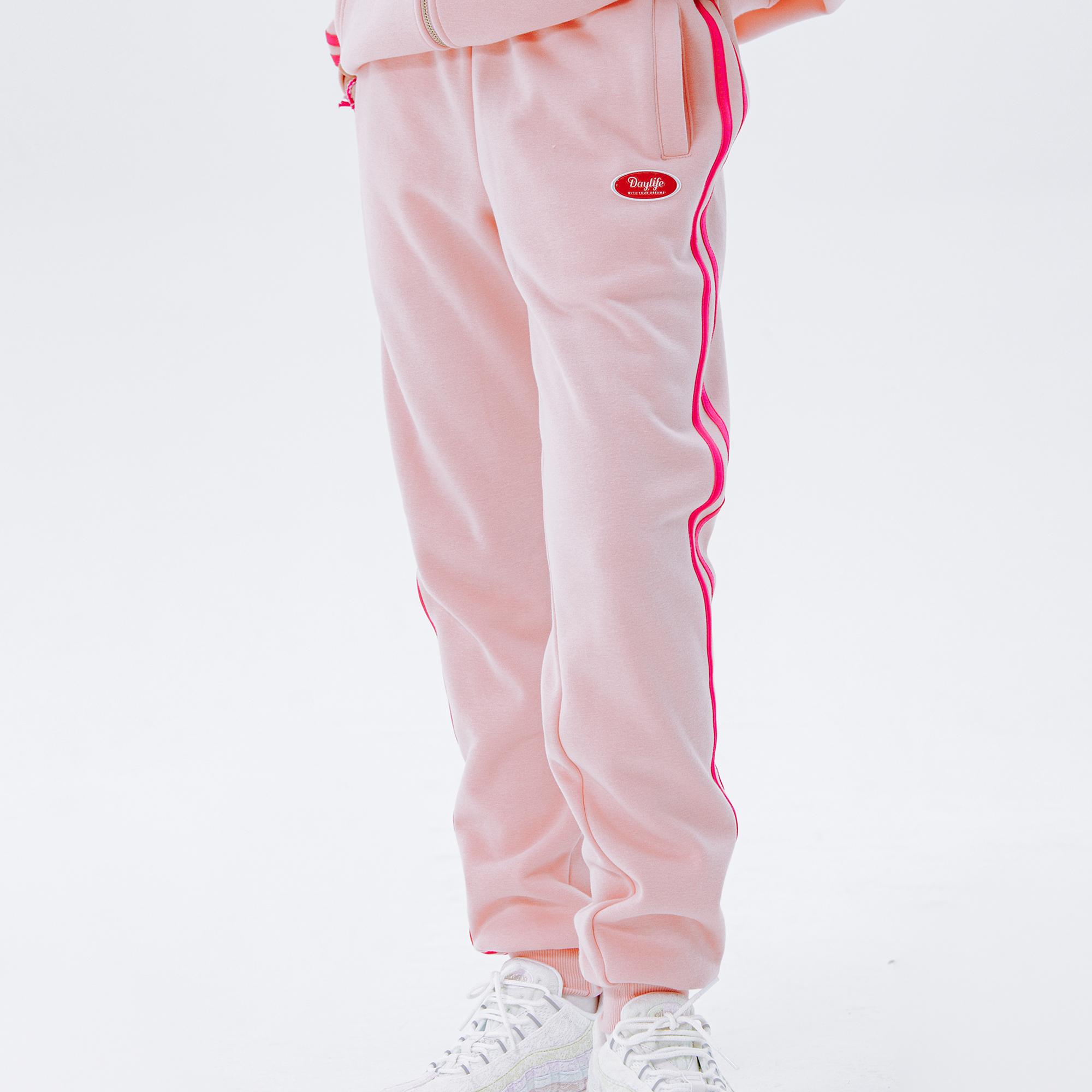 데이라이프 라인 스웨트 팬츠 (핑크) 조거 트레이닝