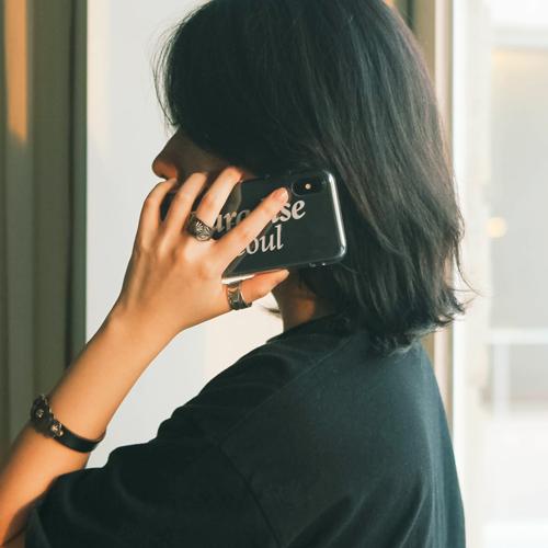 [벗딥]BUTDEEP - 시그니처 로고 아이폰 케이스-CLEAR
