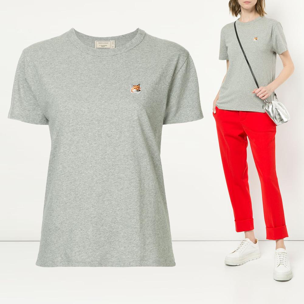 20FW 여성 폭스 패치 티셔츠 AW00103KJ0005 GRM