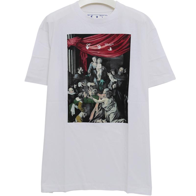 국내배송)오프화이트 OMAA038E20JER0050110 티셔츠