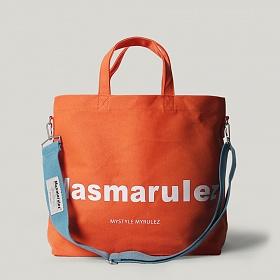 [마스마룰즈] MASMARULEZ - Basic cotton cross bag _ Orange 베이직 코튼 크로스백 토트백 숄더백