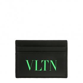 [발렌티노]20FW UY2P0448 JEY IN4 블랙 VLTN 형광 그린 로고 프린트 카드 케이스