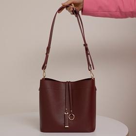 [백투베이직스]BAG TO BASICS - MANOS 마노스 버킷백 -  버건디 여성가방