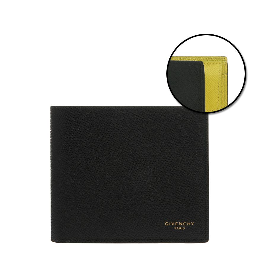 [지방시]20FW BK602DK0ZD 003 블랙 옐로 투톤 코인 포켓 반지갑