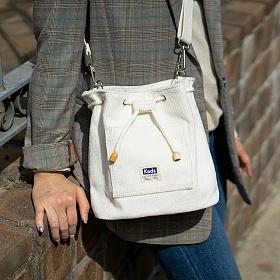 [케즈] KEDS - BUCKET BAG CD (버킷백 CD) (SB100037) 화이트 크로스백 숄더백 여성가방 코듀로이 골덴가방