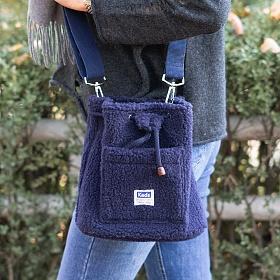 [케즈] KEDS - BUCKET BAG FLEECE (버킷백 플리스) (SB100043) 네이비 크로스백 숄더백 여성가방 뽀글이