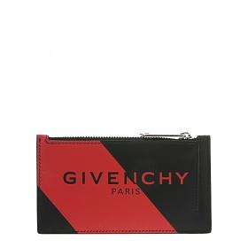 [지방시]20FW BK6001K10D 009 블랙 레드 로고 지퍼 카드 홀더