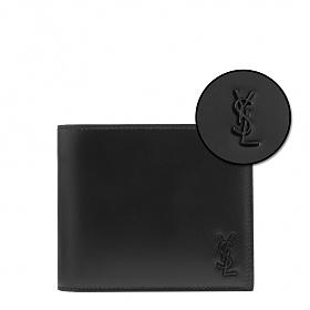 [생로랑]20FW 607727 1JB0U 1000 블랙 가죽 타이니 모노그램 반지갑