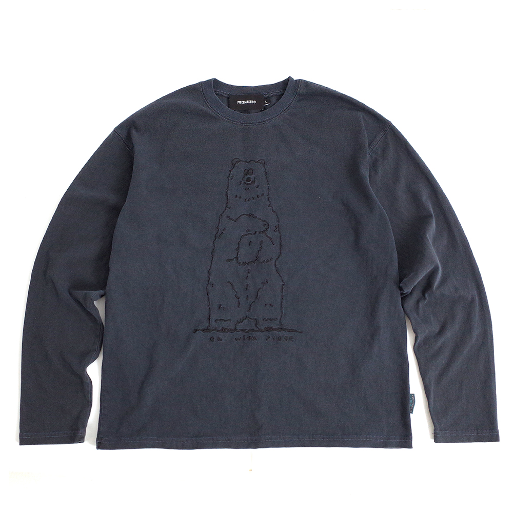 [EZwithPIECE] PIG DYED POLAR BEAR LS (NAVY)