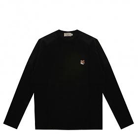 [메종키츠네]20FW FU00163KJ0010 BK 블랙 폭스 헤드 패치 긴팔 티셔츠