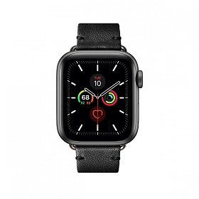 LEATHER STRAP FOR APPLE WATCH BLACK 40mm_STRAP-AW-S-BLK