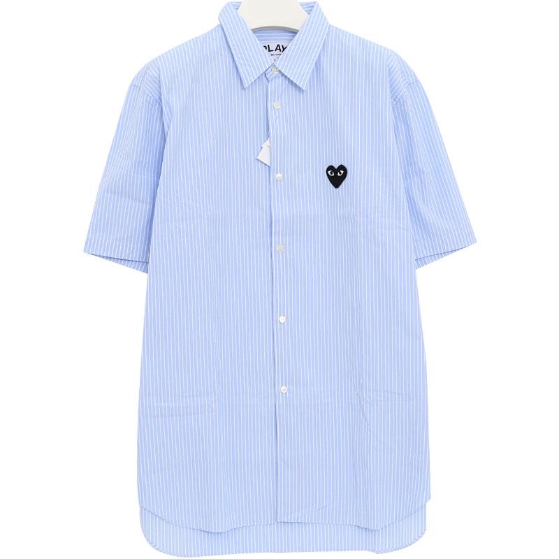 국내배송)꼼데가르송 AZ-B022 스트라이프 반팔 셔츠