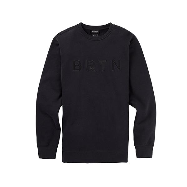 버튼 BRTN CREW (TRUE BLACK) 스��셔츠