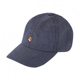 [메종키츠네] MAISON KITSUNE - 폭스헤드 볼캡 모자 네이비 FU06129WC2009-NA