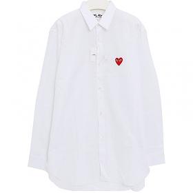 당일출고)꼼데가르송 AZ-B002 레드하트 롱슬리브 셔츠