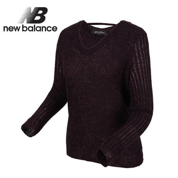뉴발란스 티셔츠 여성 스웨터(NBND746422_PURPLE)_퍼플