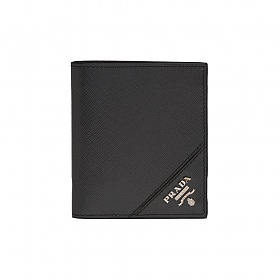 20FW 사피아노 로고 반지갑 블랙 2MO004 QME F0002