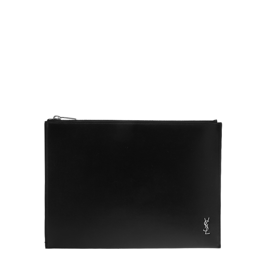 [생로랑]20FW 607779 1JB0E 1000 블랙 가죽 은장 타이니 모노그램 클러치