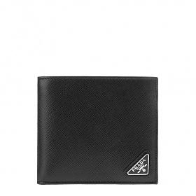 [프라다]20FW 2MO513 QHH F0002 블랙 사피아노 삼각로고 반지갑