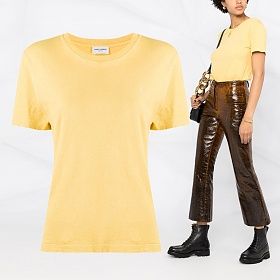 20FW 자수 티셔츠 옐로우 639985 YB2XE 7101